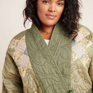 a n t h r o :: Quilted Patchwork Kimono Jacket